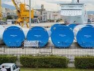 Πανό στο νέο λιμάνι της Πάτρας από αντιεξουσιαστές