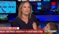 Ρεπόρτερ μιλούσε για την εισβολή της Τουρκίας, όταν έκανε ντου ο γιος της (video)