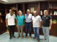 Συνάντηση του Αντιπεριφερειάρχη Χαράλαμπου Μπονάνου με στελέχη της Κολυμβητικής Ομοσπονδίας Ελλάδος