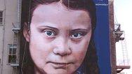 Έφτιαξαν τοιχογραφία με πορτρέτο της Γκρέτα Τούνμπεργκ