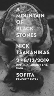 Α Μountain of Black Stones at Sofita Bar