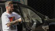 Έσπασαν το αυτοκίνητο του Γιώργου Μαυρίδη (φωτο)