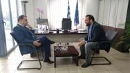 Συνάντηση του Ν. Φαρμάκη με τον Υφυπουργό Ψηφιακής Διακυβέρνησης, Γ. Γεωργαντά