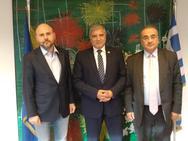 Συναντήθηκαν Δημήτρης Βερβεσός, Γιώργος Πατούλης και Γιώργος Στασινός για το Ασφαλιστικό