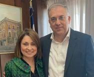 Η Χριστίνα Αλεξοπούλου συναντήθηκε με τον υπουργό Εσωτερικών Τάκη Θεοδωρικάκο