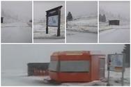 O 'Eτεοκλής' έντυσε στα λευκά το Χιονοδρομικό Κέντρο Καλαβρύτων (video)