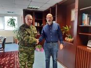 Πάτρα: O Διοικητής ΚΕΤΧ Στυλιανός Καλαϊτζίδης επισκέφθηκε τον Χαράλαμπο Μπονάνο