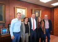 Συνάντηση μελών της Συμπολιτείας Ολυμπίας με τον Πρόεδρο της Ε.Ο.Ε., Σπύρο Καπράλο