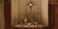 Το νέο του έργο του Banksy είναι μια φάτνη κάτω από μια τρύπα από οβίδα