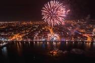 Θεσσαλονίκη - 10λεπτο σόου με πυροτεχνήματα για την αλλαγή του χρόνου