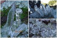 Ερύμανθος - H φύση δημιουργεί εντυπωσιακά παγωμένα γλυπτά (φωτο)