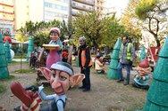 Πάτρα - Φθορές στο χριστουγεννιάτικο χωριό της πλατείας Όλγας (φωτο)