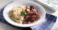 Μαγειρευτό χταποδάκι ξιδάτο με ρύζι