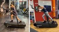 Τρέξιμο σε διάδρομο γυμναστικής με… ψηλοτάκουνα (video)
