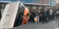 Τρύπα σε δρόμο της Κίνας «κατάπιε» λεωφορείο