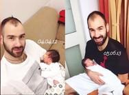 Ολυμπία Χοψονίδου - Το κολάζ με τον Βασίλη Σπανούλη και τα νεογέννητα παιδιά τους (φωτο)
