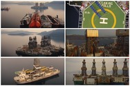 Τα 7 γιγάντια παροπλισμένα πλωτά γεωτρύπανα στον κόλπο της Ελευσίνας (video)