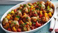 Μοσχαρίσιοι κεφτέδες με λαχανικά στο φούρνο