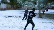 Η Βαγδάτη ξύπνησε καλυμμένη στο χιόνι (φωτο)