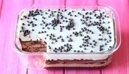 Γλυκό ψυγείου με σοκολάτα και μπισκότα