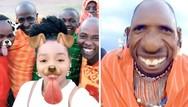 Η φυλή των Μασάι δοκιμάζει για πρώτη φορά τα φίλτρα του Snapchat (video)