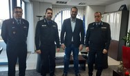 Στον Περιφερειάρχη Νεκτάριο Φαρμάκηη νέα ηγεσία Πυροσβεστικών Υπηρεσιών Δυτικής Ελλάδας