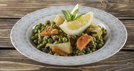 Συνταγή για λεμονάτο αρακά λαδερό με λαχανικά