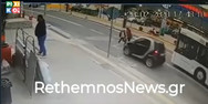 Βίντεο-σοκ από τροχαίο ατύχημα στο Ρέθυμνο