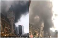 Παρίσι - Μεγάλη φωτιά ξέσπασε στην περιοχή Γκαρ ντε Λιόν