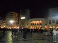 Σχεδόν άδεια η πλατεία Γεωργίου το βράδυ της Κυριακής του Πατρινού Καρναβαλιού (φωτο)
