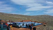 Οι Χιώτες γιόρτασαν τα κούλουμα φτιάχνοντας μία τεράστια Ελληνική σημαία στο σημείο επίταξης του Αίπους (pics+video)