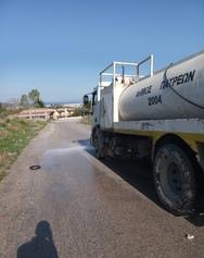 Πάτρα: Εργασίες καθαρισμού και απολύμανσης στο Ρηγανόκαμπο (φωτο)