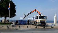 Κορωνοϊός: Τέρμα οι βόλτες στην παραλία της Θεσσαλονίκης (pics+video)