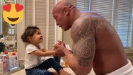 O Dwayne Johnson μαθαίνει στην κόρη του πως να πλένει σωστά τα χέρια της! (video)
