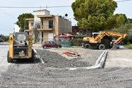 Πάτρα - Σε εξέλιξη οι εργασίες ανακατασκευής της οδού Ευβοίας (φωτο)