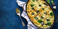 Συνταγή για πανεύκολα λαζάνια με μανιτάρια και σπανάκι