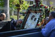 Αίγιο - Αφαίρεσαν τις πινακίδες στο αγροτικό που μετέφερε την εικόνα της Παναγίας Τρυπητής