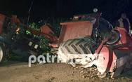 Πύργος: Τροχαίο ατύχημα έκοψε στη μέση τρακτέρ