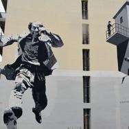Ο Θανάσης Βέγγος και η εντυπωσιακή τοιχογραφία του στην Πάτρα