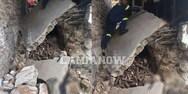 Ευρυτανία - Εργάτης καταπλακώθηκε από τοίχο (φωτο+video)