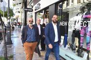 Πάτρα: Ο Νεκτάριος Φαρμάκης πραγματοποίησε περιοδεία στο εμπορικό κέντρο (φωτο)