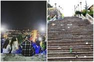 Στήνονται αυτοσχέδια πάρτι τα βράδια, στις σκάλες της Αγίου Νικολάου!