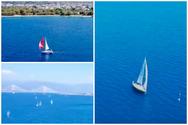 Sailing με φόντο το απέραντο γαλάζιο του Πατραϊκού κόλπου (video)