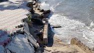 Χαλκιδική: Κατέρρευσε η παραλία της Νέας Ηράκλειας