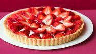 Λαχταριστή τάρτα με φράουλες