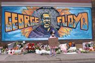 Τοιχογραφία έξι μέτρων στο σημείο που δολοφονήθηκε ο Τζορτζ Φλόιντ