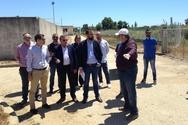 Επίσκεψη Περιφερειάρχη στον Βιολογικό Καθαρισμό Γαστούνης - Βαρθολομιού (φωτο)