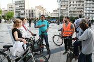 Πάτρα: Ο Κώστας Πελετίδης έδωσε το παρών στην εκκίνηση της νυχτερινής ποδηλατάδας