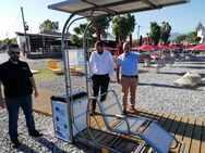 Αχαΐα: Tοποθετήθηκε σύστημα Seatrac στην παραλία της Άκολης (φωτο)