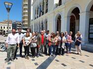 Ο ΣΥΡΙΖΑ Αχαΐας προχώρησε σε εξόρμηση στο κέντρο της Πάτρας